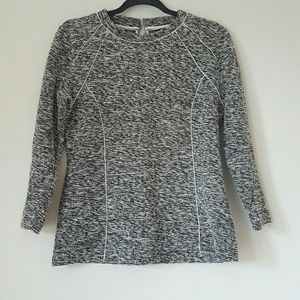 Ann Taylor fitted tweed top